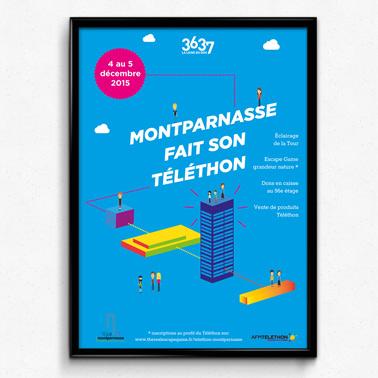 Icade Montparnasse | Affiche Téléthon